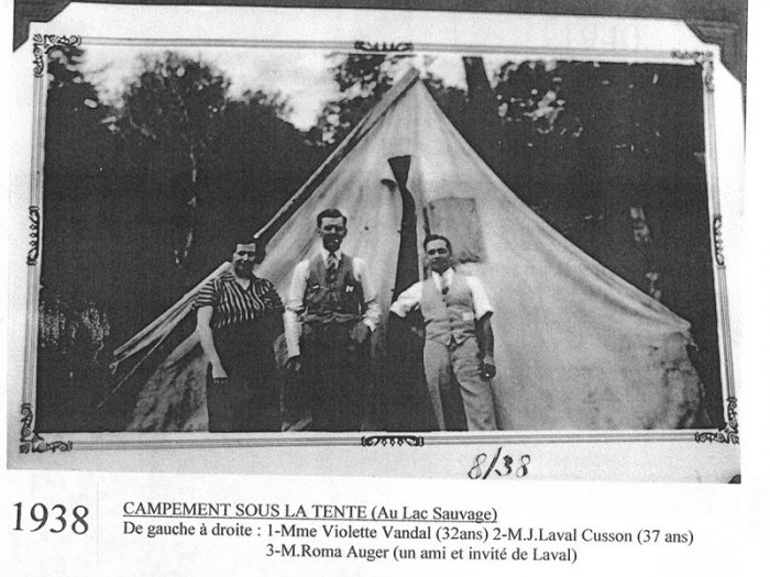 campement lac sauvage 1938